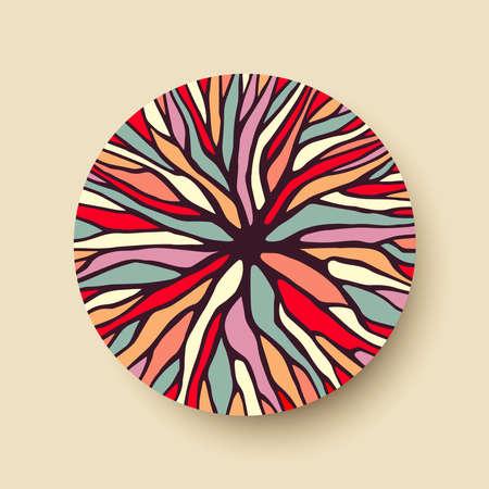 多様な設計に最適なカラフルなツリー ブランチ イラストの幾何学的円図形を抽象化します。ベクトル。