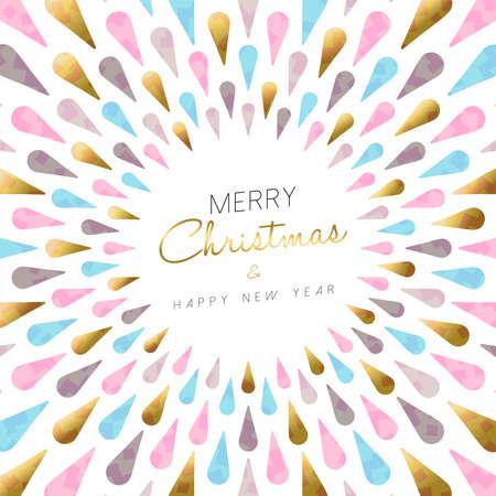 luxo: Feliz Natal de luxo e ano novo design estilo abstrato moderno feliz na cor do ouro para a temporada de férias. vetor.