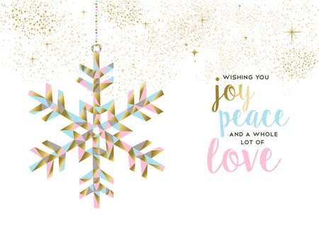 Merry Christmas Happy New Year Gold Illustration Design With ...