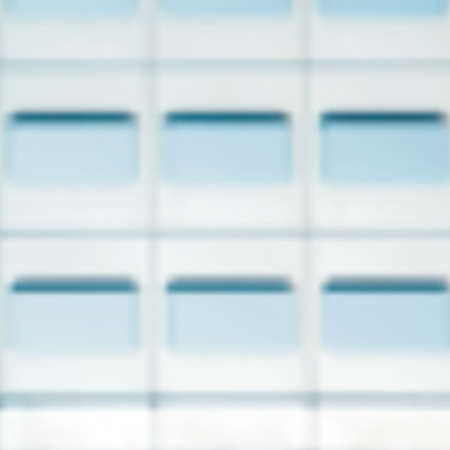 blur effect: Modern architecture with clean blur effect. Illustration
