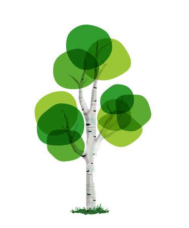 手描き下ろし木は緑の葉を抽象的なアートから成っています。自然のケアや系図テンプレートの環境の概念。EPS10 ベクトル。