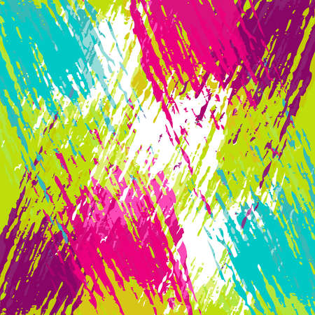 Abstract summer style art background, colorful hand drawn grunge paint texture. EPS10 vector.