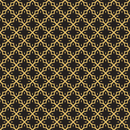 Arab gold luxury seamless pattern decoration in traditional abstract arabic style. EPS10 vector. Ilustração