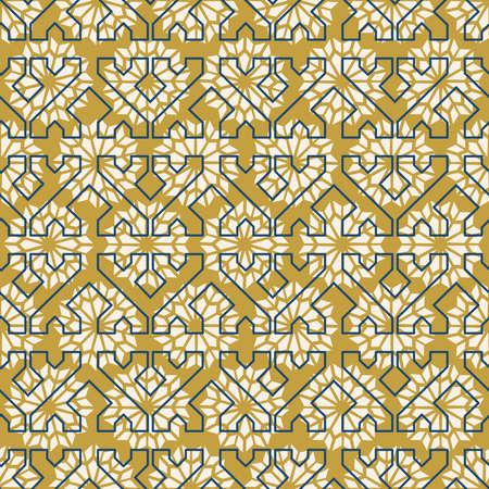 Modèle sans couture de mosaïque en céramique arabe mauresque classique avec décoration de forme géométrique abstraite. Vecteur EPS10. Banque d'images - 82823459