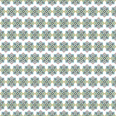 古典的なアラブ セラミック モザイク タイル抽象図形の装飾とシームレスなパターンは。幾何学的には、伝統的なオリエンタル ムーア パターンに基  イラスト・ベクター素材