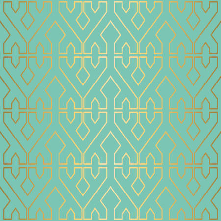 Gold luxury seamless pattern decoration background with abstract geometric shapes. EPS10 vector. Ilustração