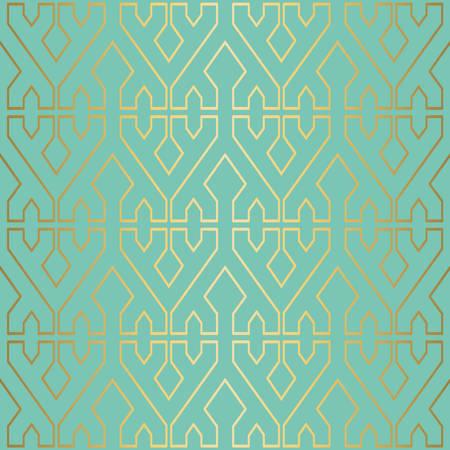 Oro de lujo sin patrón de decoración de fondo con formas geométricas abstractas. EPS10 vector. Foto de archivo - 82823518