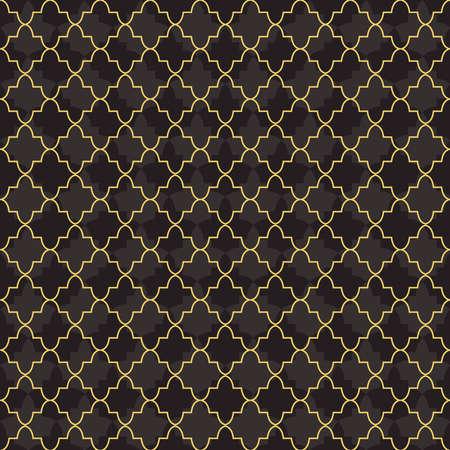 Décoration de motif sans soudure en or arabe avec des formes géométriques abstraites de la mosquée. Vector EPS10. Banque d'images - 82823457