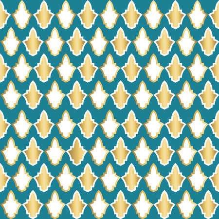 Gold luxury seamless pattern decoration with abstract geometric shapes. EPS10 vector.