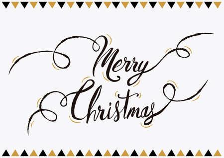메리 크리스마스 달 필 시세, 휴가 시즌 동안 레터링 텍스트 디자인. 크리 에이 티브 빈티지 타이 포 그래피 글꼴 그림입니다. EPS10 벡터입니다.