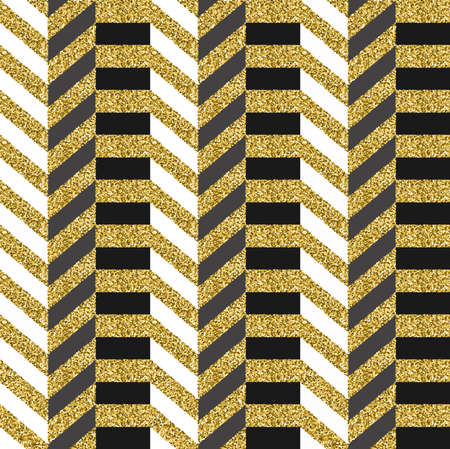 Gold seamless pattern made of golden glitter texture, geometric luxury background with stripes. EPS10 vector. Stock Vector - 86471223