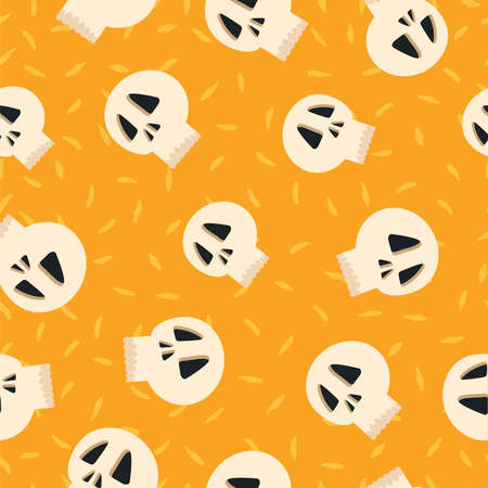 Day of the dead hand drawn pattern Illustration