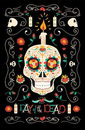 Tag der Toten Banner für mexikanische Feier Standard-Bild - 86989437