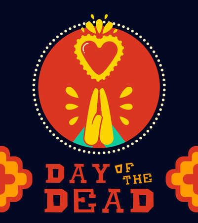 Day of the dead banner for Mexican celebration Illusztráció