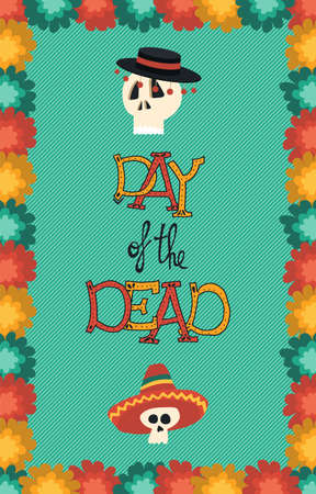 Day of the dead banner for Mexican celebration Illustration