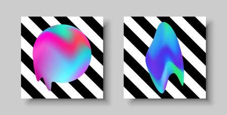 Abstrakter Hintergrund eingestellt mit modernen flüssigen Effektdesignen. Ideal für Webprojekt, Broschüre, Flyer oder Einladungsvorlage. Vektorgrafik