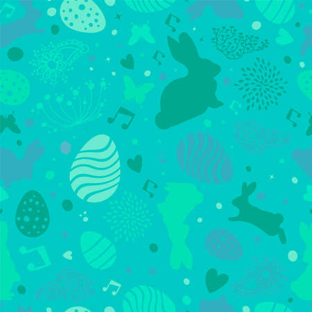 Spring seamless pattern illustration for Easter celebration event.