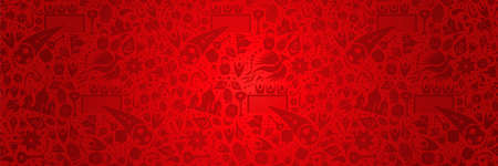 Russia symbol decoration background in red color ideal for web banner. Traditional russian culture elements template.