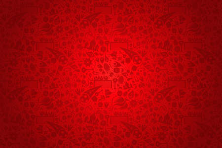 Russia symbol decoration background in red color. Traditional russian culture and sport elements template event.