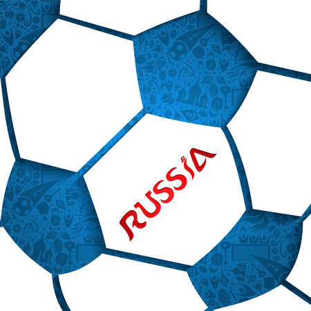 Russia soccer ball illustration background.