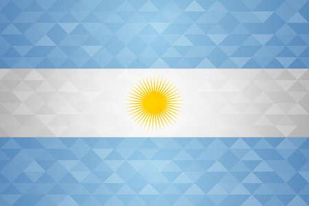 Bandera de argentina para el evento especial del país con el fondo geométrico del triángulo . Foto de archivo - 103023117