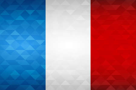France flag for special country event with geometric triangle background.