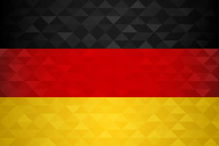 Germany flag for special country event with geometric triangle background.