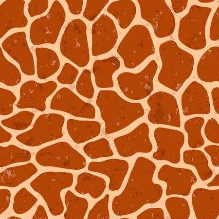 Modèle sans couture imprimé girafe. Fond de peau d'animal sauvage avec texture grunge.