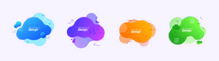 Abstract background design set. Modern flat gradient shape in colorful style for business presentation, brand or creative concept.