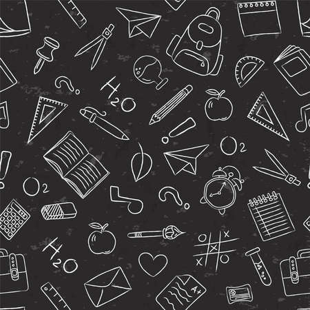 School icon seamless pattern