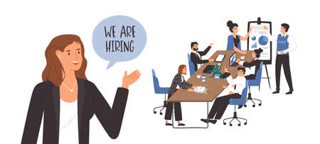 We are hiring template for vacant office position. Illustration