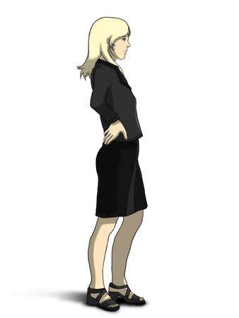 decent: Businesswoman Side View Stock Photo