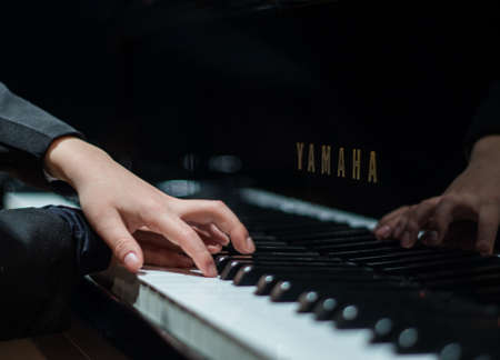 piano player: The piano player Editorial