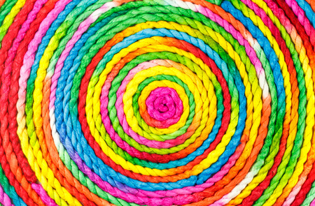 mulberry paper: colorful rope circle made from mulberry paper