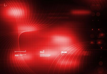 tecnology: Tecnology Background Red