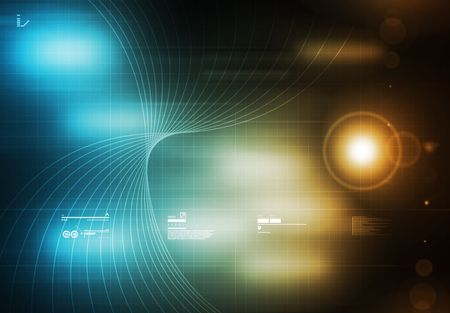 Tecnology Background Blue photo
