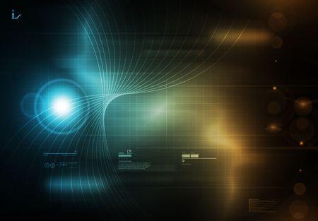 Tecnology Achtergrond Blue Stockfoto