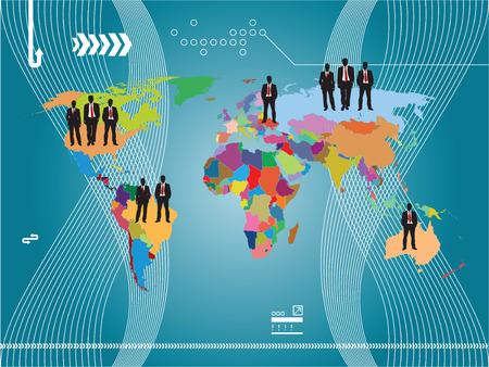 financiële zaken illustratie van de wereld en achtergrond schrijven