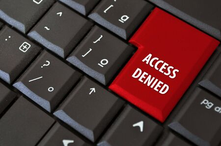 black laptop keyboard with a button the access denied Stock Photo - 7233655