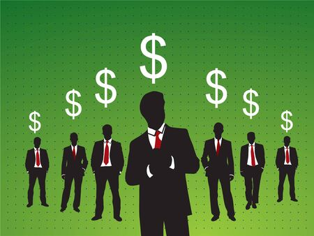 success people in business investment Stock Vector - 7233663