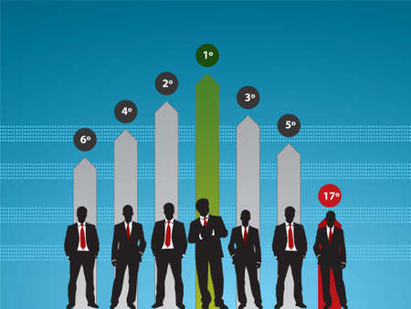 success people in business graph finance Stock Vector - 7233662