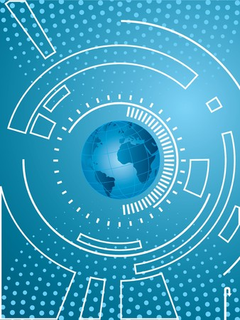 layout creative technology and background blue Vector