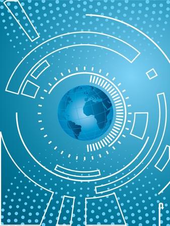 virtual world: layout creative technology and background blue Illustration
