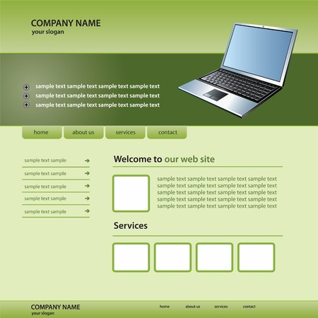 website technology template Vector