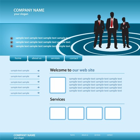 website business template Vector