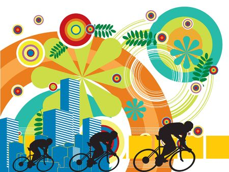 air sport: sport competition and background colors Illustration