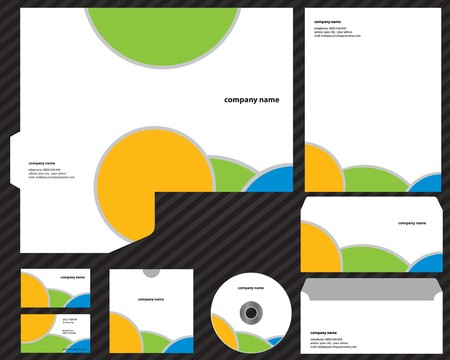 lay-out creatieve bedrijfs sjabloon  Stock Illustratie