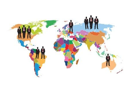 financial business illustration of the world and background write Illustration