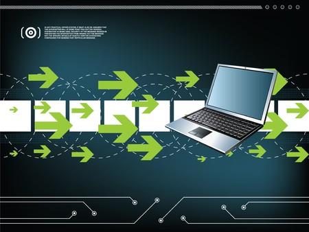 communications technology: tecnolog�a de fondo  Vectores