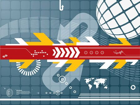 abstract tech background Stock Vector - 7374003